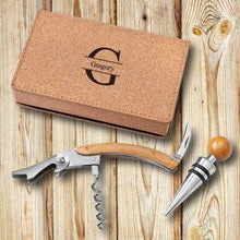 Load image into Gallery viewer, Personalized Wine Opener Set - Cork | JDS