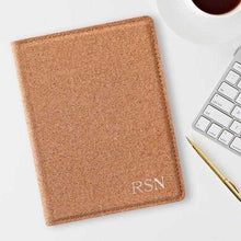 Load image into Gallery viewer, Monogrammed Cork Passport Holder | JDS