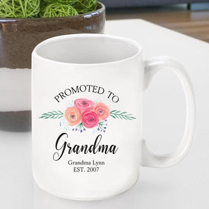 Promoted to Grandma Coffee Cup | JDS