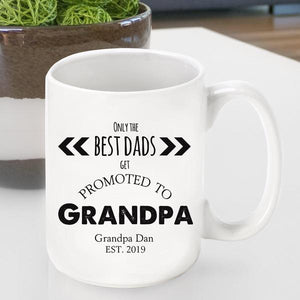 Promoted to Grandpa Coffee Cup | JDS