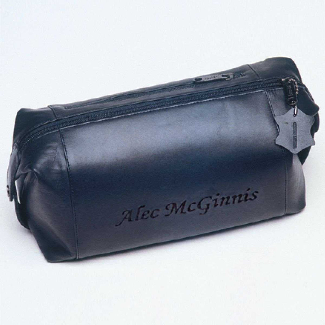 Personalized Travel Bag - Shaving Kit - Travel - Leather | JDS