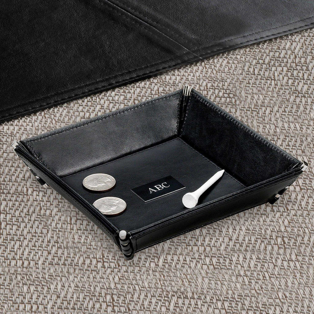 Personalized Leather Stash Tray | JDS