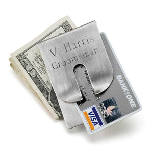 Personalized Wallet - Money Clip - Stainless Steel | JDS