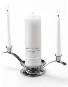 Personalized Premier Wedding Unity Candle w/Stand | JDS