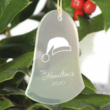 Load image into Gallery viewer, Personalized Beveled Glass Ornament - Bell Shape | JDS