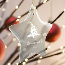 Load image into Gallery viewer, Personalized Ornaments - Christmas Ornaments - Glass - Star Shape | JDS