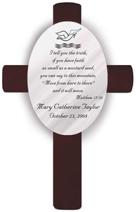Personalized Baptism Crosses | JDS
