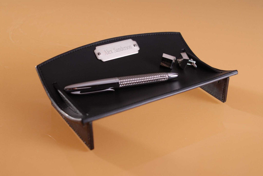 Personalized Leather Desk Caddie | JDS