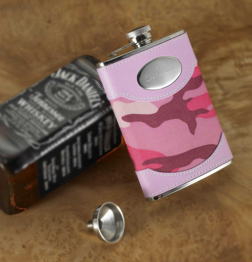 Personalized Pink Camouflage Flask | JDS