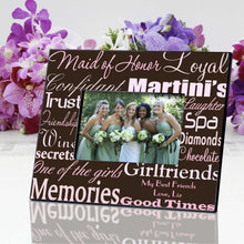 Load image into Gallery viewer, Personalized Maid of Honor Picture Frame | JDS