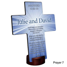 Load image into Gallery viewer, Personalized Starburst Cross with Stand | JDS
