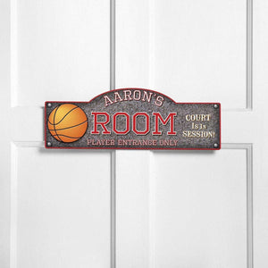 Personalized Door Signs - Room Sign - Sports Themed Signs | JDS