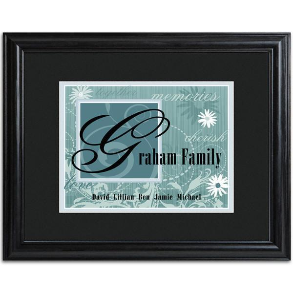 Personalized Slate Family Name Frame | JDS