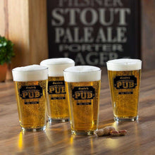 Load image into Gallery viewer, Personalized Pub Glass Set - Set of 4 | JDS