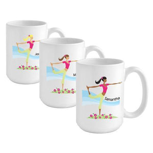 Personalized Go-Girl Coffee Mug - Yoga | JDS