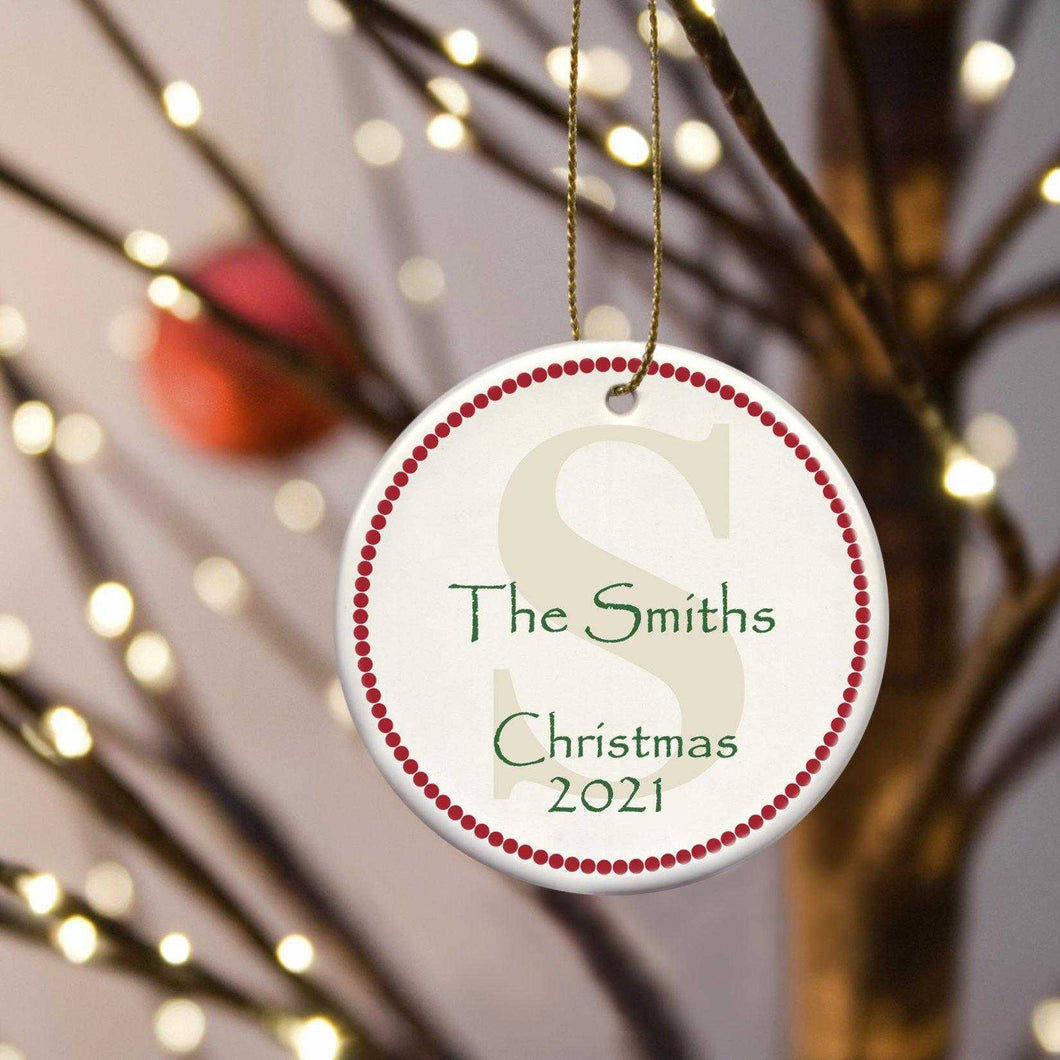 Personalized Ornaments - Christmas Ornaments - Ceramic | JDS