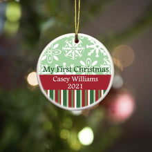 Load image into Gallery viewer, Personalized Ornament - Christmas Ornament - My First Christmas | JDS