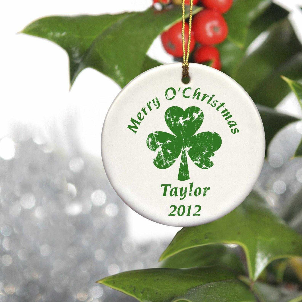 Personalized Ornaments - Christmas Ornaments - Irish Ceramic Ornaments | JDS