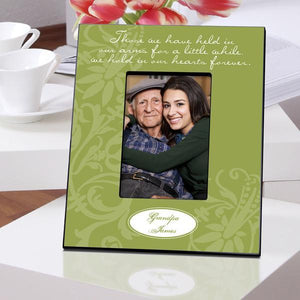 Personalized Memorial Frame - Green Hearts | JDS