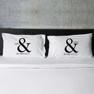 Personalized Mr & Mrs Couples Pillow Case Set | JDS