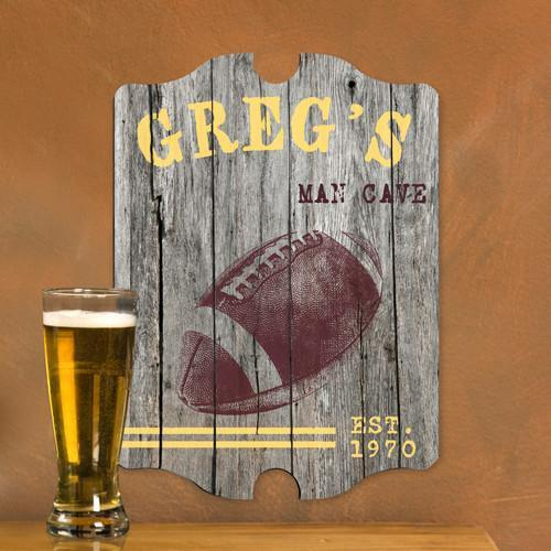 Personalized Vintage Man Cave Pub Sign - Football | JDS