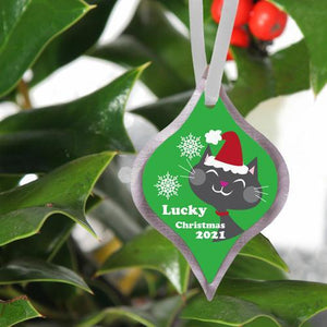 Personalized Elegant Christmas Ornament | JDS