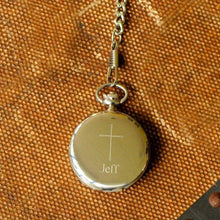 Load image into Gallery viewer, Engraved Pocket Watch - Engraved Cross - Inspirational - Confirmation Gifts | JDS