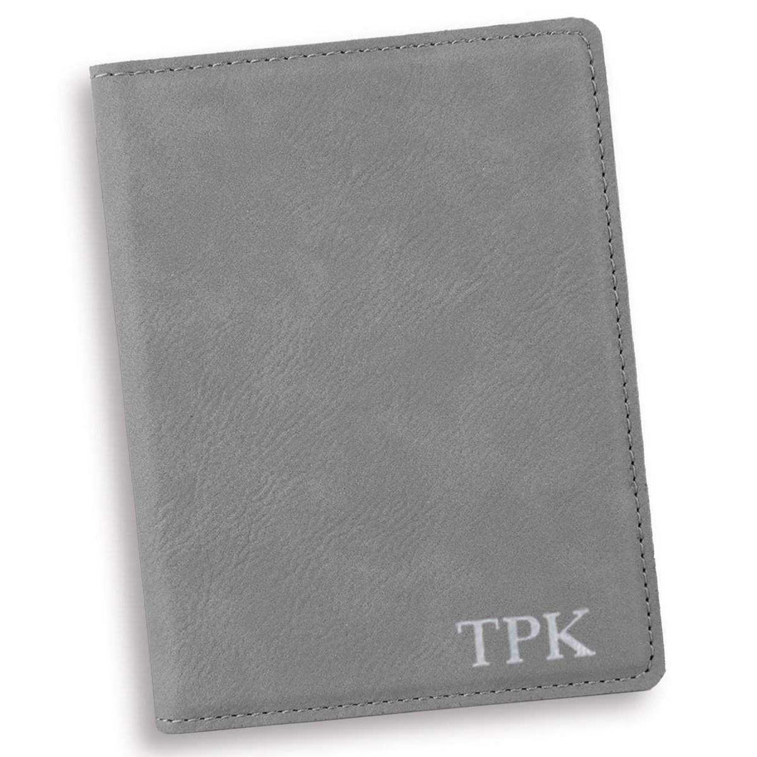 Personalized Gray Passport Holder | JDS