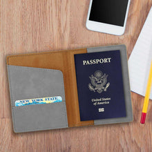 Load image into Gallery viewer, Personalized Gray Passport Holder | JDS