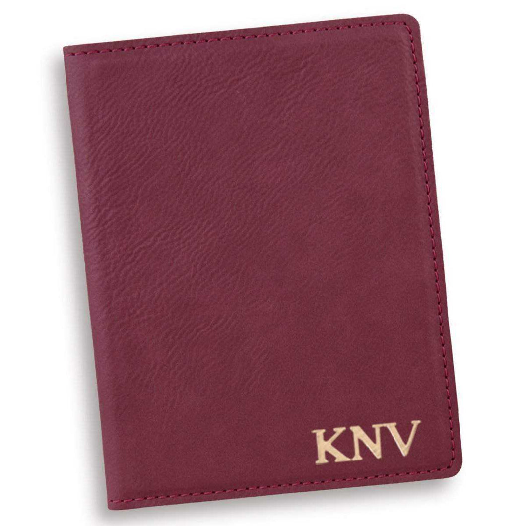 Personalized Rose Passport Holder | JDS