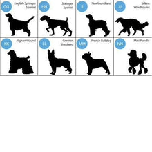 Load image into Gallery viewer, Personalized Silhouette Dog Throw Pillow | JDS