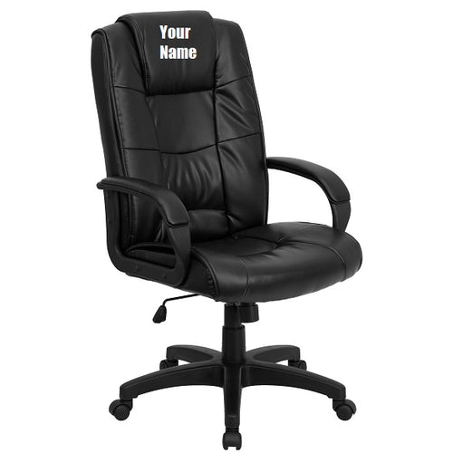 Custom Designed Executive Office Chair With Your Personalized Name & Graphic