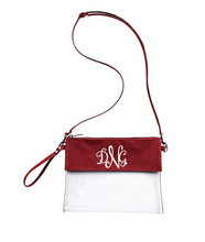 Load image into Gallery viewer, Custom Monogrammed or Personalized Purse/Clear Stadium Bag/Crossbody Bag/Stadium Purse | DG Custom Graphics