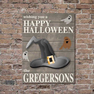 Personalized Halloween Stretched Canvas Wall Decor | JDS