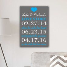Load image into Gallery viewer, Personalized Our Love Story Canvas Print | JDS
