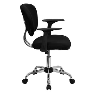 Custom Designed Mid-Back Mesh Swivel Task Chair with Chrome Base With Your Personalized Name | DG Custom Graphics