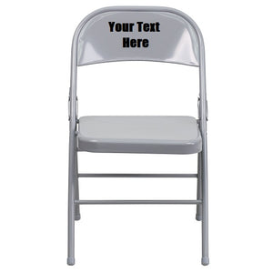 Custom Designed Triple Braced and Double Hinged Folding Chair With Your Personalized Name | DG Custom Graphics