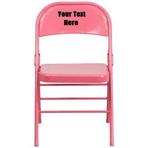 Custom Designed Triple Braced and Double Hinged Folding Chair With Your Personalized Name