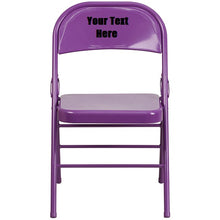 Load image into Gallery viewer, Custom Designed Triple Braced and Double Hinged Folding Chair With Your Personalized Name | DG Custom Graphics