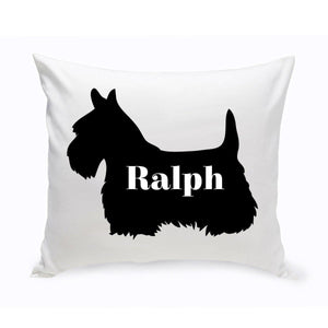 Personalized Throw Pillow - Dog Silhouette - Personalized Dog Gifts | JDS