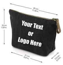 Load image into Gallery viewer, Custom Personalized Cotton Canvas Makeup Bag Pouch Purse Handbag with Zipper | DG Custom Graphics