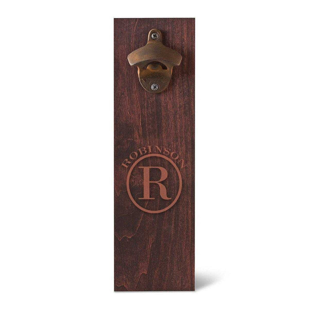 Personalized Monogram Wall Mounted Bottle Opener | JDS