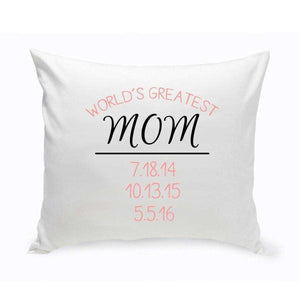 World's Greatest Mom Throw Pillow | JDS