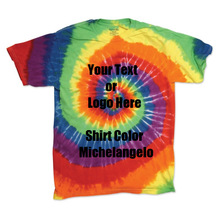 Load image into Gallery viewer, Custom Designed Personalized Tie Die T-shirts