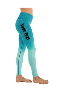 Custom Personalized Designed Ombre Yoga Pants Workout Leggings