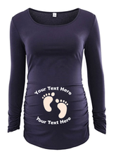 Custom Personalized Designed Long Sleeve Maternity T-shirt