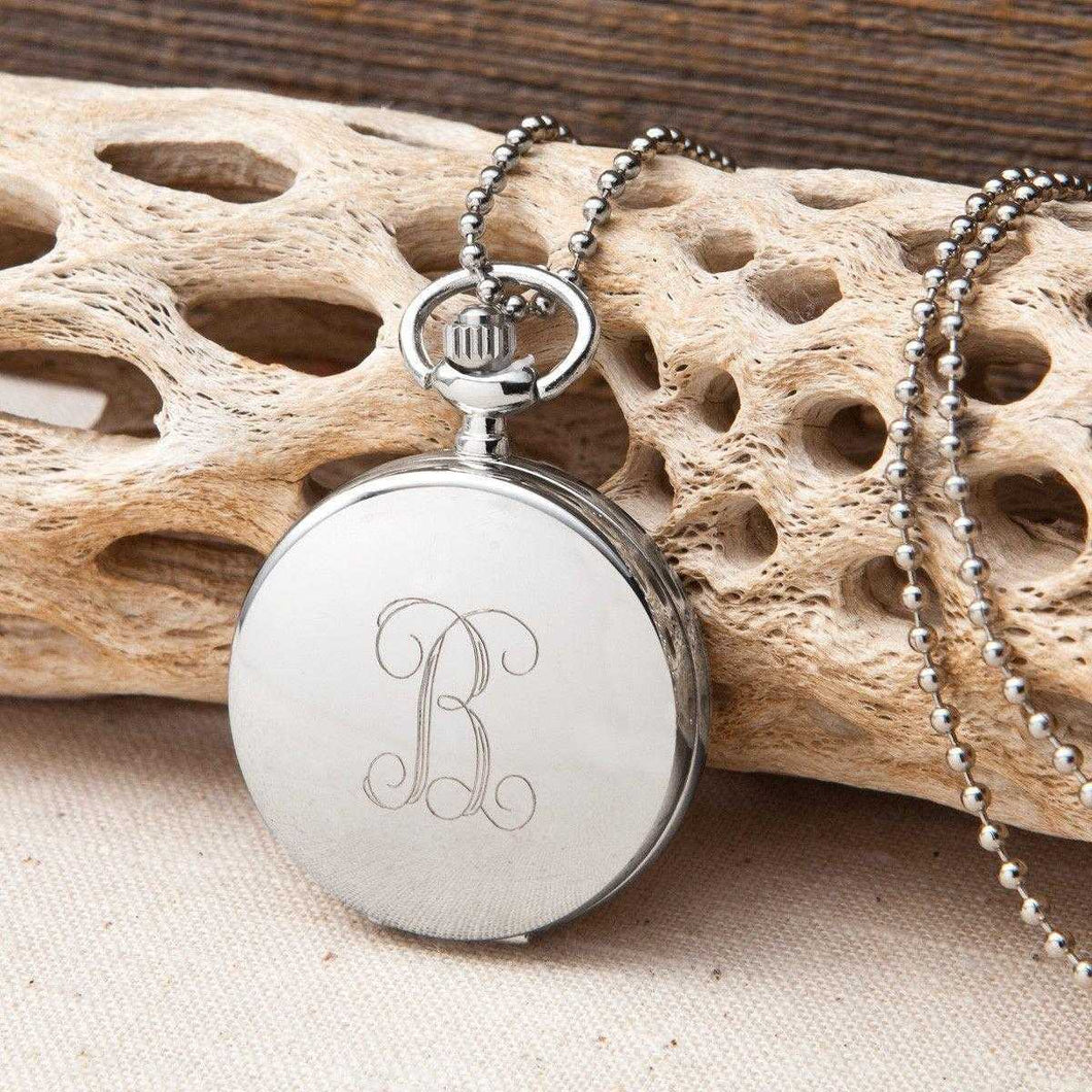 Personalized Women's Clock Pendant Necklace | JDS