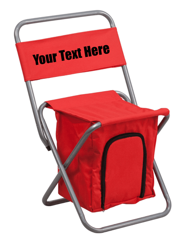 Custom Personalized Folding Camping Chair with Insulated Storage | DG Custom Graphics