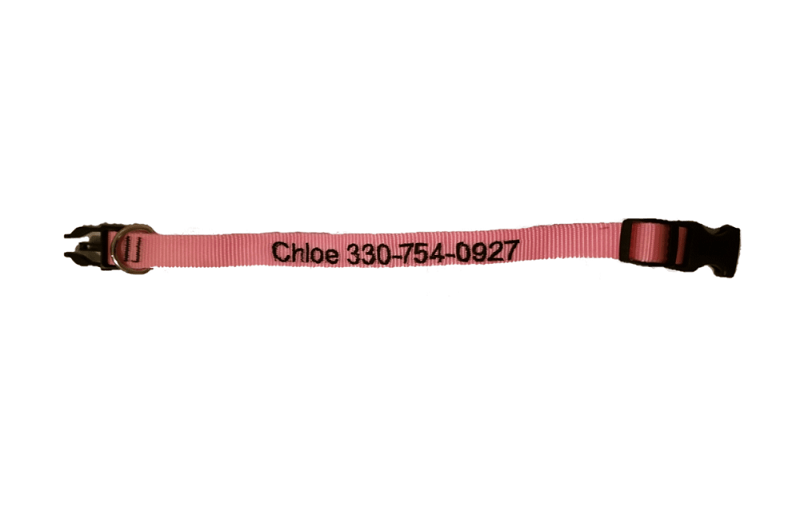 Custom Personalize Design Your Dog Collar with Pet Name & Contact Number