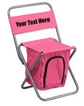 Load image into Gallery viewer, Custom Personalized Folding Camping Chair with Insulated Storage
